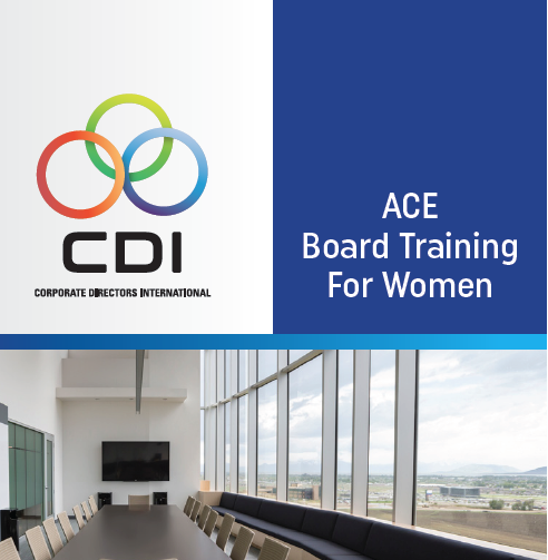 Meet Your Next Board Member: ACE Board Training for Women Winter 2020/2021 Certified Board Candidates Profile Catalogue