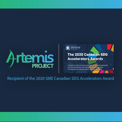 We are honoured to announce that Artemis Project is the first social enterprise in mining and metals to<br>receive the SME 2020 Canadian Sustainable Development Goals Accelerator Award for our work<br>towards accelerating theGlobal Goals.