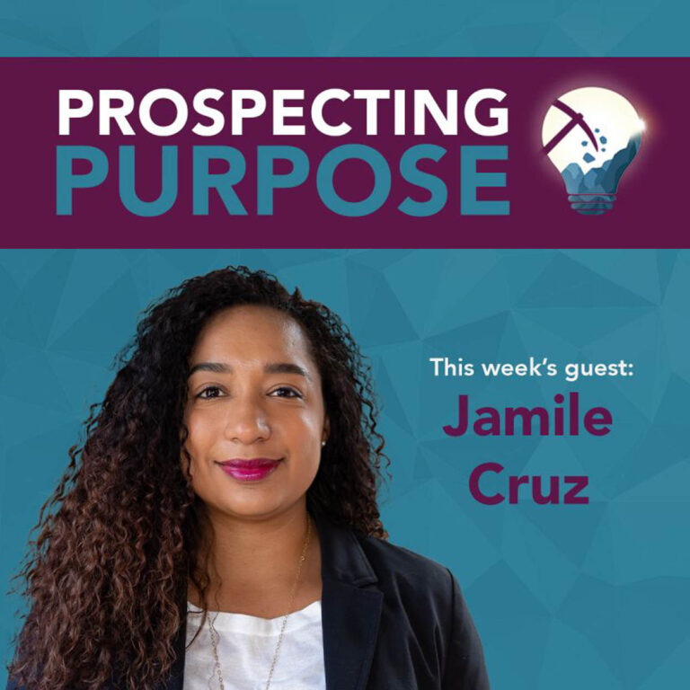 Sympact Advisory Podcast #5.  This week's guest on mining's brighter future podcast, Artemis Project Member Jamile Cruz (she/her)!  Join Prospecting Purpose, where Artemis Project member Elizabeth Freele chats to a new guest every Wednesday.