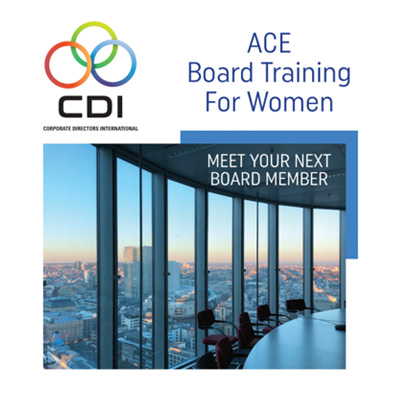 Meet Your Next Board Member: ACE Female Board Graduates Online Resource Catalogue is now available for viewing.